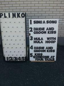 Wedding Plinko.. but with better options