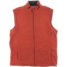 Club Δωμάτιο Fleece Zip Front Casual Vest ισπανικό κεραμίδι XL