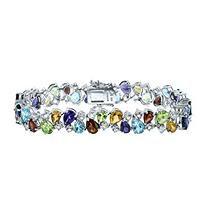 Gem RoManse Multi Gemstone Bracelet in Sterling Silver