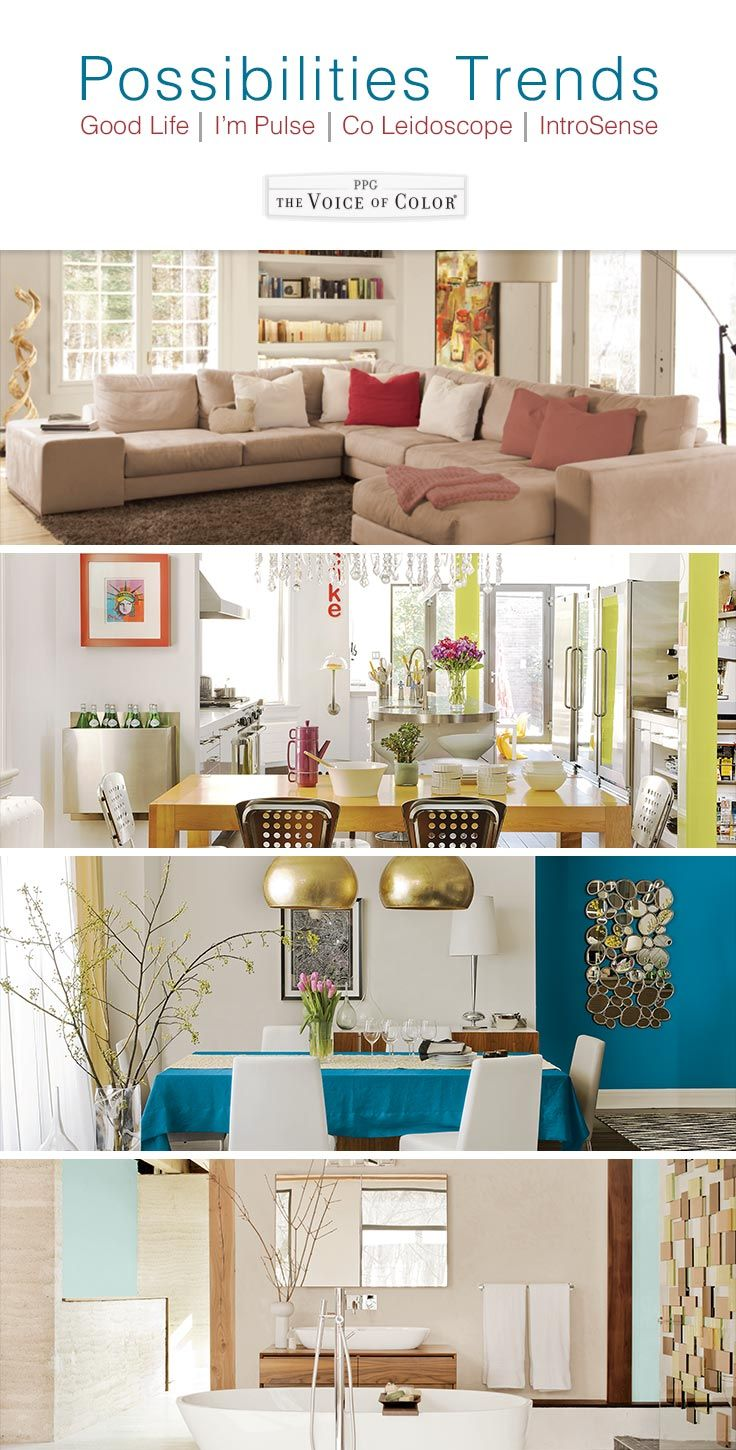 Possibilities Trends Paint Color Trends and Paint Collections: PPG Voice of  Color presents the