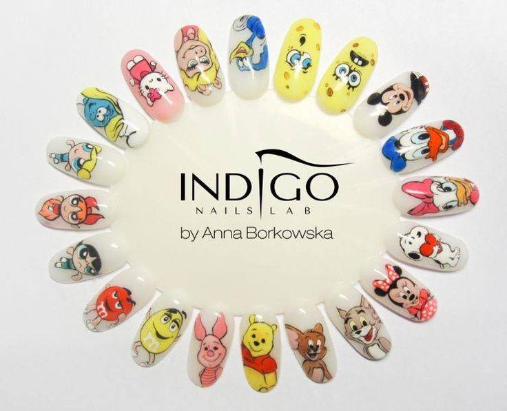 by Ania Borkowska  Indigo Gel Polish Double Tap if you like #nails #nailart #nailpolish Find more Inspiration at www.indigo-nails.com