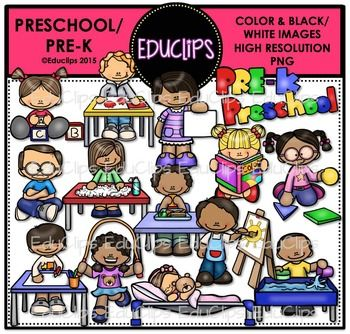 Preschool / PreK Clip Art Bundle {Educlips Clipart}