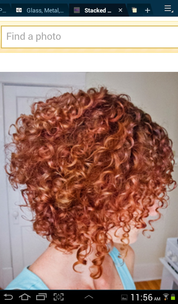 Curly haircut - This is kinda choppy looking, but I like the idea