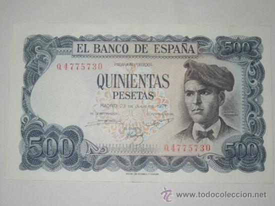 billete 500 quinientas pesetas madrid 23 de julio 1971 sin circulacion serie q