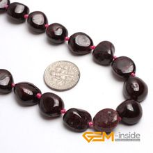 6X12MM Freeform Natural Garnet Stone Necklace 17 Inches Birthstone Of January Guardian Stone For Scorpio Free Shipping //Price: $US $7.97 & FREE Shipping //     #jewelry
