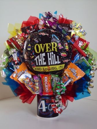 Over The Hill 40th birthday bouquet (lots of other ...