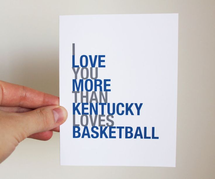 Take 10% off with coupon code PIN10 Kentucky Wildcats basketball card - march madness - sports greeting card
