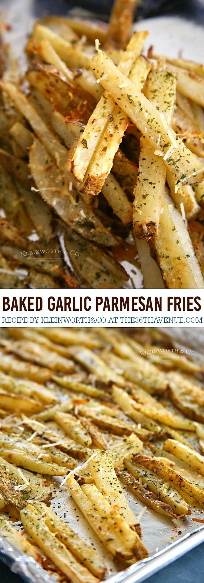 Baked Garlic Parmesan Steak Fries - Easy and delicious side dish to all your summer BBQ dishes. (Baking Pasta Crockpot)