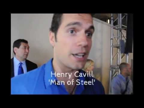 Good lord!! So many hot guys in one room.... I would have been toast. Exclusive: Henry Cavill, David S. Goyer, Antje Traue At Superman 75th Anniversary Party - YouTube