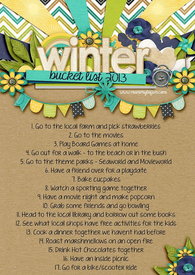 Australian Winter Bucket List 2013 obviously some of these aren't possible in NE