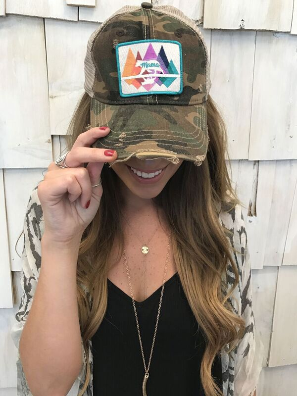 Judith March Mama Bear Trucker Hat in Camo 924H-3