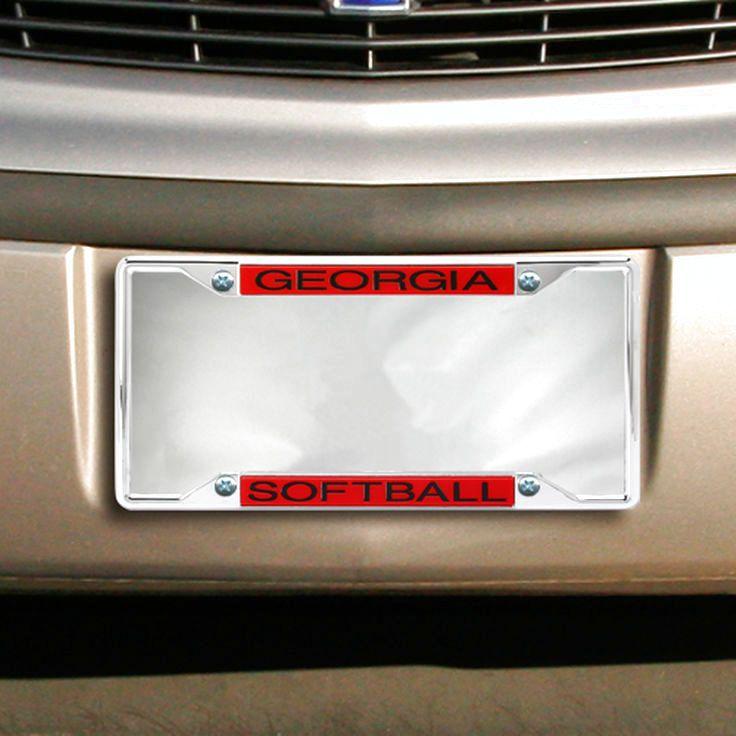Georgia Bulldogs Acrylic Softball License Plate Frame - $13.59