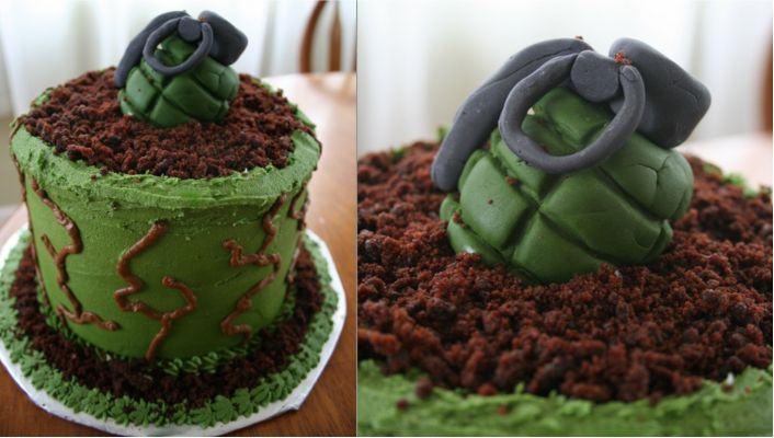 Grenade Cake