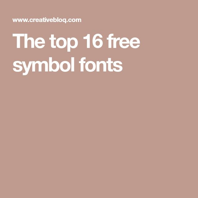 The top 16 free symbol fonts