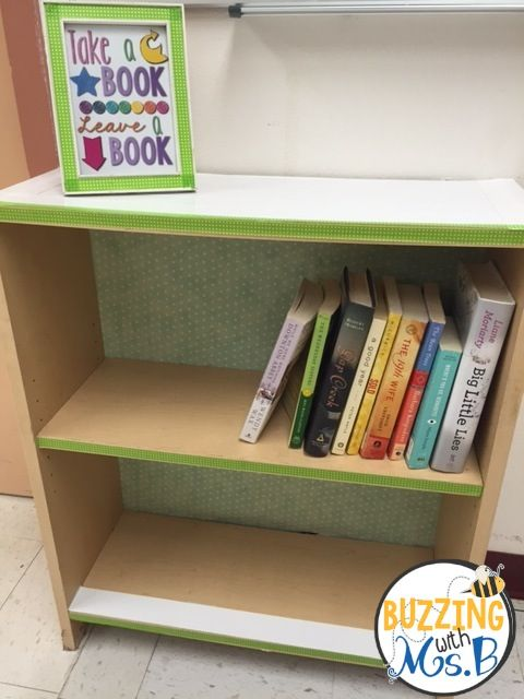 Take a Book, Leave a Book shelf in the faculty lounge!