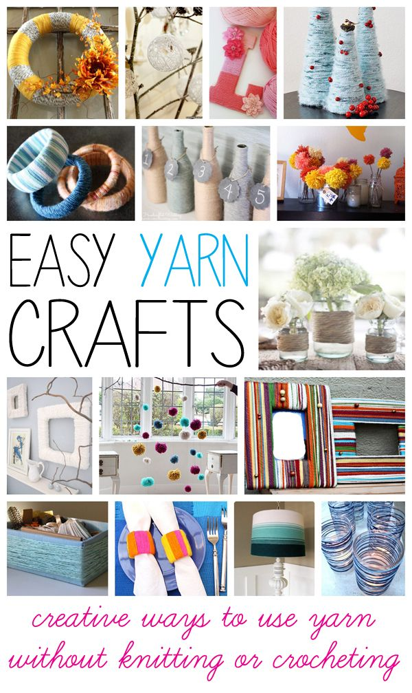 Best 25 easy yarn crafts ideas on pinterest diy using for Simple creative things