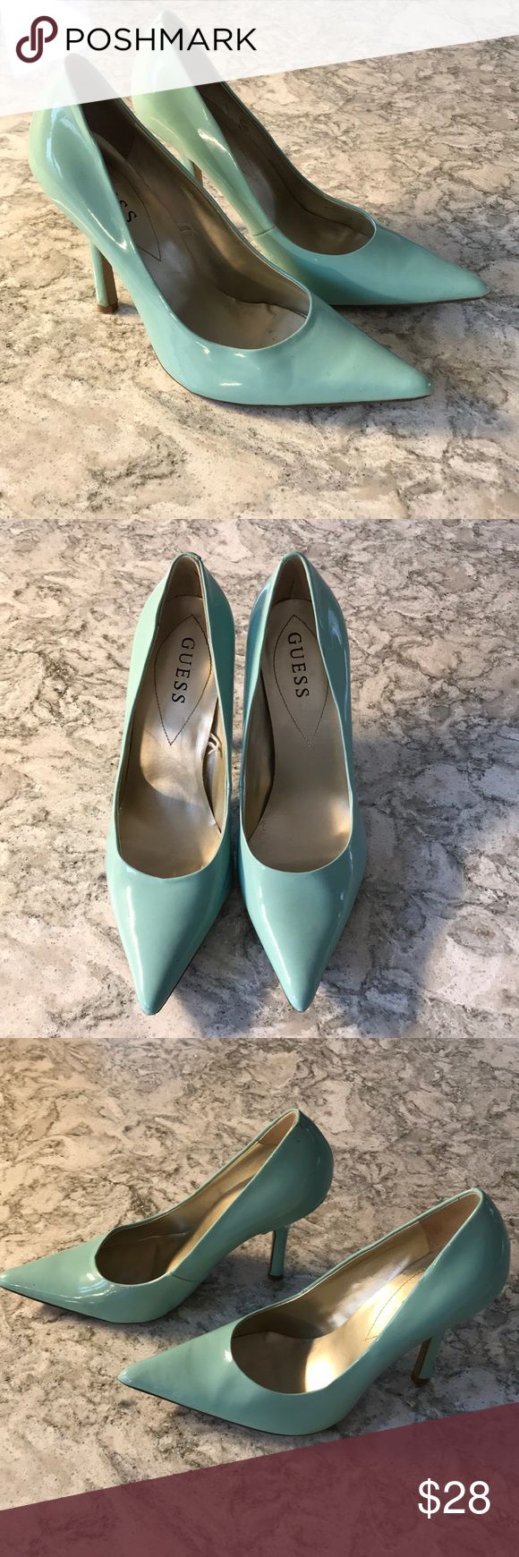 Guess mint pumps So cute for spring! Guess Shoes Heels