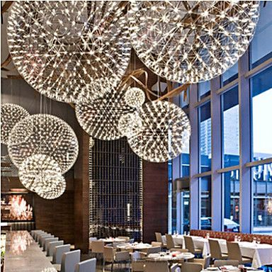 220V 20*20CM 5-10㎡Contracted And Contemporary Chandelier Creative Round Droplight Lamp Led Light 2016 – $82.99