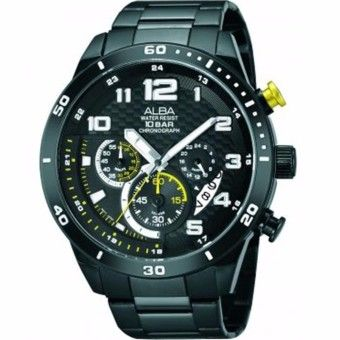 Special Prices ALBA Chronograph - Jam Tangan Pria - Hitam - Stainless Steel  AT3467X1Kualitas memuaskan ALBA Chronograph - Jam Tangan Pria - Hitam ... db0314ffae