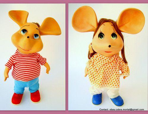TOPO GIGIO & ROSY MARIA dolls