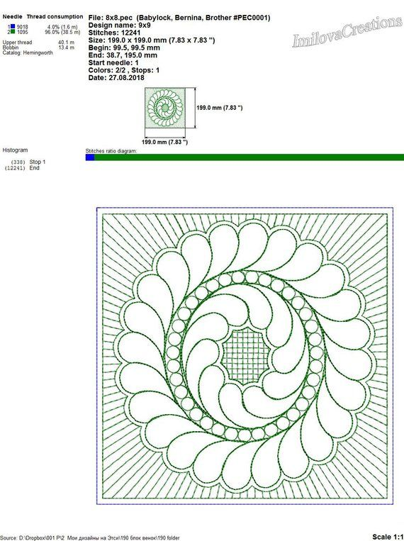 Quilt block Machine embroidery designs. quilt by the block square ...