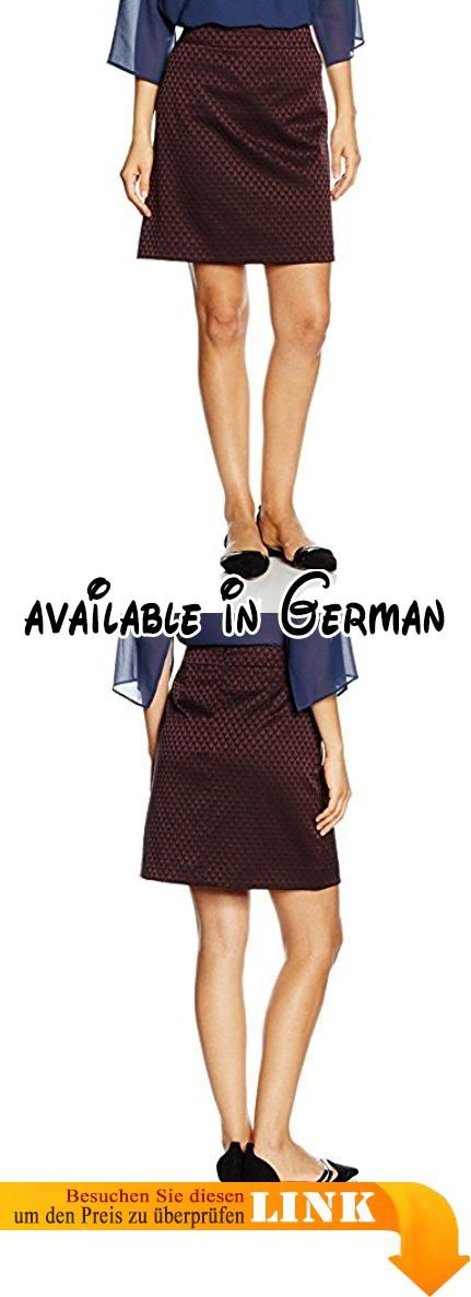 Comma Damen Rock 85.899.78.0234 Mehrfarbig (Red Aop 39A2), 38.  #Apparel #SKIRT