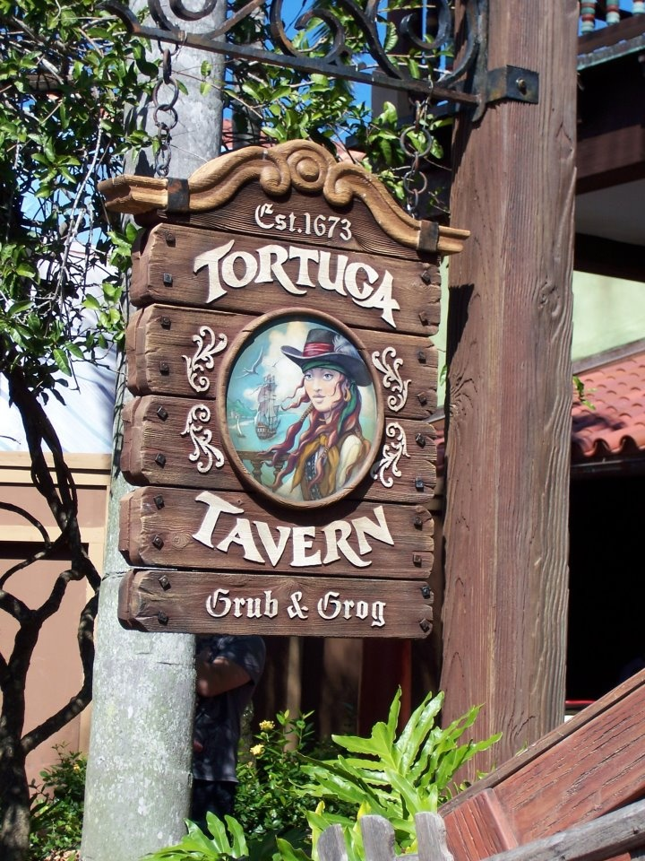 Tortuga Tavern, Adventureland, Magic Kingdom. Across from Pirates of the Caribbean. By flourpower89.