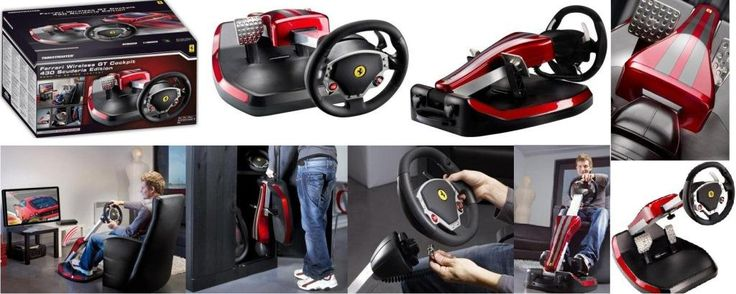 http://www.satelectronics.co.za/ProductDescription.aspx?id=2874435. While most of us will never be lucky enough to make it into the cockpit of a real-life Ferrari 430 Scuderia, the Thrustmaster Ferrari Wireless GT Cockpit 430 Scuderia Edition might just be the next best thing. Availability: 11 in stock