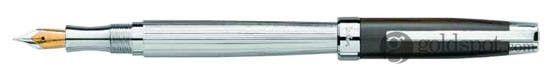 Laban Ebony Walnut Wood w/ Silver Medium Point Fountain Pen
