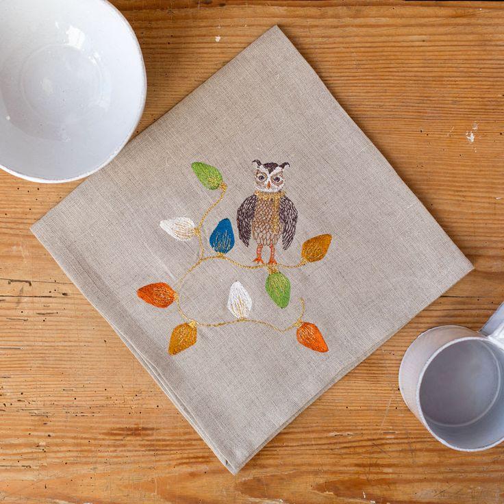 owl tree trimmer napkin