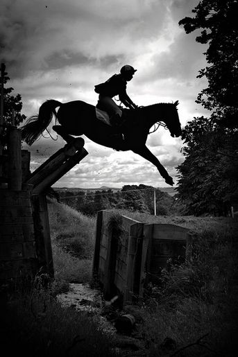 The thrill of #CrossCountry, how's that for having your heart in your throat! #HunterTrials #Equestrian