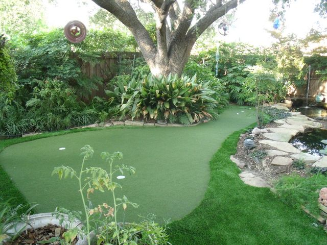 how to make a golf green in your backyard