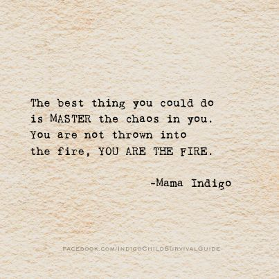 The best thing you could do is master the chaos in you. You are not thrown into the fire... #recovery