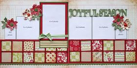 Shari's Scrapbook: New kits at Simply Scrapbooks. Nice use of scraps using small squares. Could also alternate the border at the top on one side and the bottom on the other.