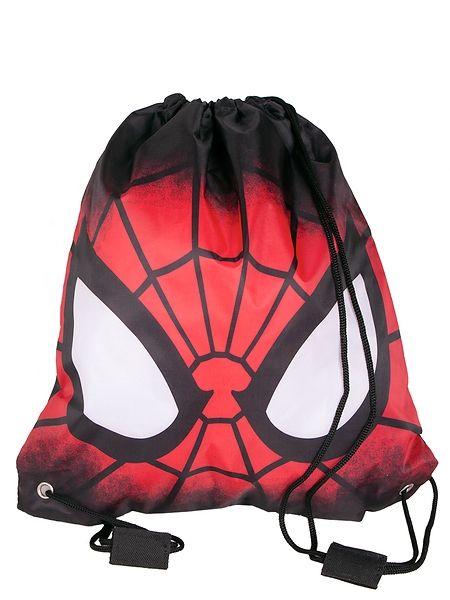 Vaihtovaatteet ja muut tarpeelliset tavarat on näppärä pakata tähän näyttävään Spider-Man-kassiin. Eikä Hämähäkkimiehen tuima tuijotus jää keneltäkään huomaamatta! Voit kantaa pussia olalla tai repun tapaan selässä. Koko: 37 x 32 cm. Materiaali: polyesteri.