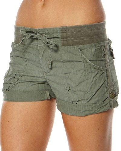 SURFSTITCH - WOMENS - SHORTS - CARGO - RUSTY TREASURE ISLAND SHORT - ARMY