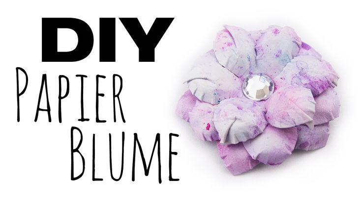 [DIY] Papier Blume | Blumen Deko selbermachen