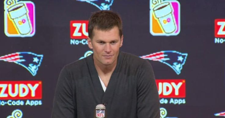 Patriots Quarterback Tom Brady addresses the media following New England's game against the Carolina Panthers on Sunday, October 1, 2017.