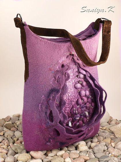 """Сумочка """"Лаванда"""" валяная сумка - сумка,сумочка,валяная,сумка валяная"""