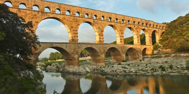 古代ローマの水道の遺跡