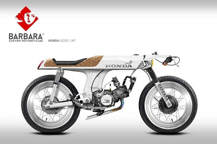 "Honda Cafe Racer Design ""SS250"" #17 by Barbara Custom Motorcycles #motorcycles…"