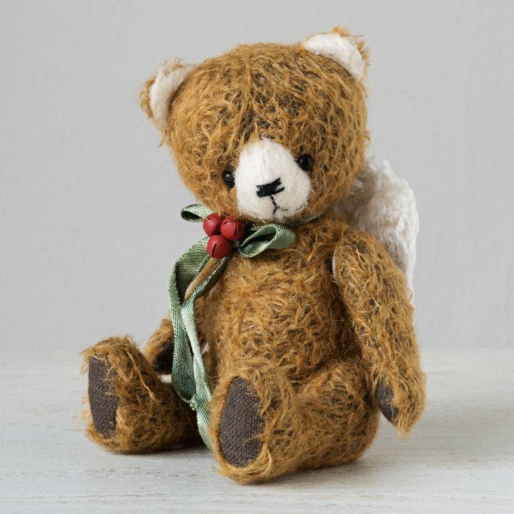 NEW YEAR ANGEL by Marina Dorogush #art#artist#ooak#vintage #vintagestyle #teddy #bear#teddybear # artteddybears #marinadorogush #christmas #christmastime #christmasgifts