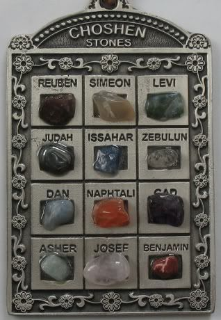 12 Tribes of Israel Stones | 12 Tribes of Israel Hoshen Choshen Stones Artistic Ornament Wall ...
