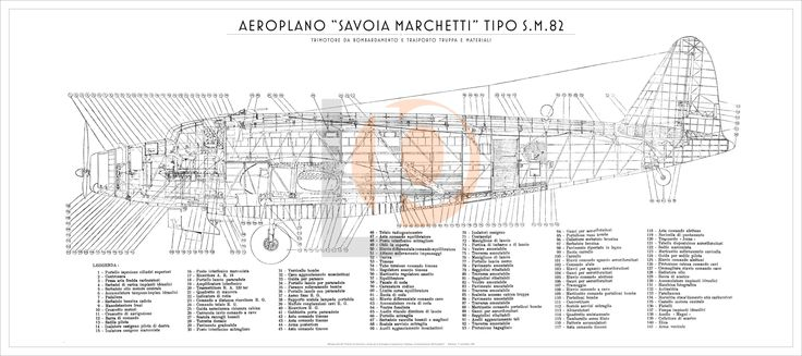 Aeroplano S.I.A.I. Marchetti SM.82-Cod. SM82-126x56 FIANCO
