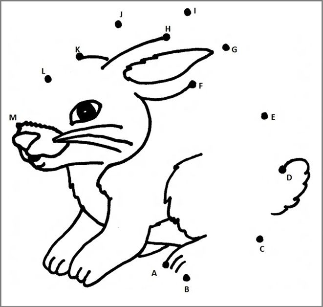 dot to dot r rabbit