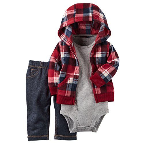baby clothing | Carter's Baby Boys Cardigan Sets 121g785, Red, 3M