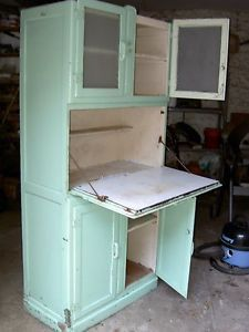 Superior Vintage Green 1950u0027s Kitchen Larder Cabinet / Pantry Cupboard