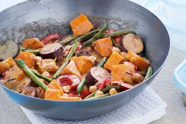 Thai green vegie curry