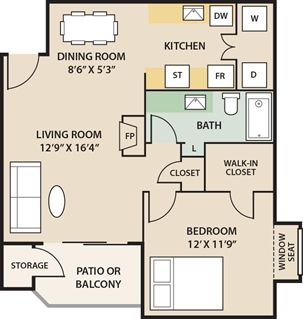 Apartments for Rent Indianapolis, IN | Floor Plans | Eagle Pointe Apartments
