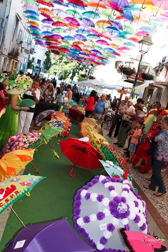 Umbrellas anual contest   Colorful umbrellas @Agitagueda  #agitagueda #agitagueda2016 #agitaguedaartfestival #agueda #streetart #festival #urbanart #umbrellaskyproject